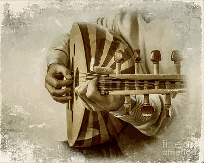 Grey Lutenist Poster by Moustafa Al Hatter
