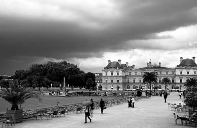 Black And White Paris Poster featuring the photograph Luxembourg Gardens 2bw by Andrew Fare