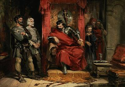 Macbeth Instructing The Murderers Employed To Kill Banquo Poster by George Cattermole