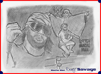 Macho Man Randy Savage Poster by Chris  DelVecchio
