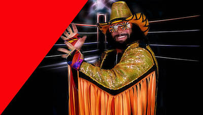 Macho Man Randy Savage Collection Poster by Marvin Blaine
