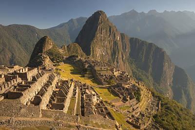 Machu Picchu At Dawn Near Cuzco Peru Poster by Colin Monteath