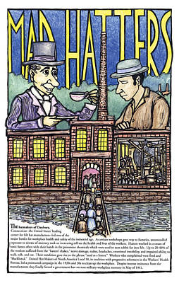 Mad Hatters Poster by Ricardo Levins Morales
