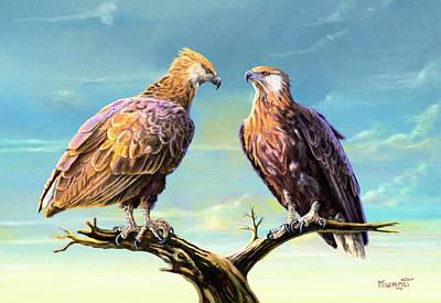 Madagascar Fish Eagle  Poster by Anthony Mwangi