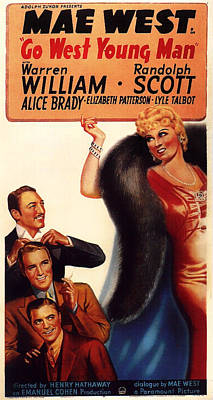 Mae West In Go West Young Man 1936 Poster by Mountain Dreams