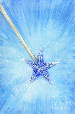 Magic Wand Poster by Cindy Garber Iverson