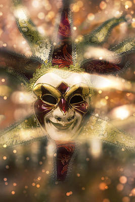 Magical Madi Gras Mask Poster by Garry Gay