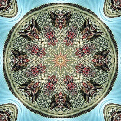 Magical Mosaic - Shamanic Power Circle 2 Poster by Sofia Metal Queen