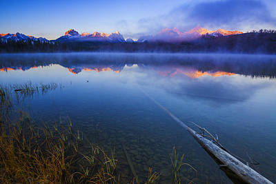 Magical Sunrise Along Sawtooth Mountain Range Stanley Idaho Poster by Vishwanath Bhat