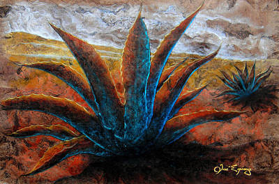 Tree Bark Poster featuring the painting Maguey by Jose Espinoza