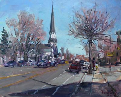 Main Street In Williamsville Poster by Ylli Haruni