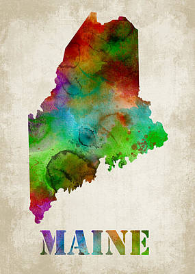 Maine Poster by Mihaela Pater