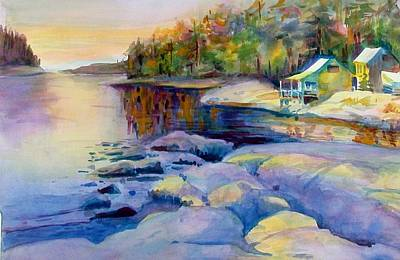 Maine Winter Poster by Linda Emerson