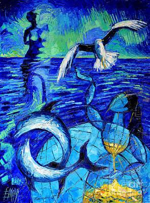 Majestic Bleu Poster by Mona Edulesco