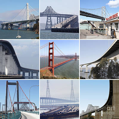 Majestic Bridges Of The San Francisco Bay Area Poster by Home Decor