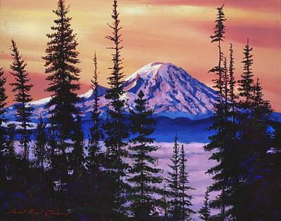 Majestic Mount Baker Poster by David Lloyd Glover