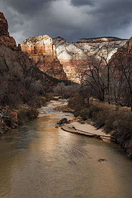 Majestic Mountains-zion Poster by Rob Travis