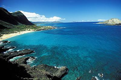 Makapuu Beach Park Poster by Peter French - Printscapes