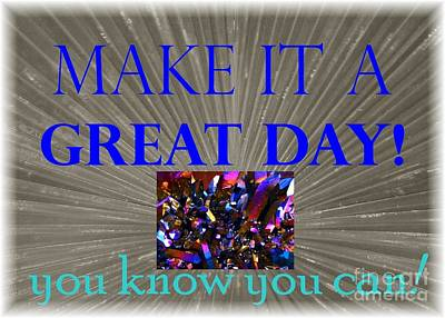 Make It A Great Day Affirmation Poster by Barbie Corbett-Newmin