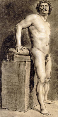 Male Academy Figure Poster by Ferdinand Victor Eugene Delacroix
