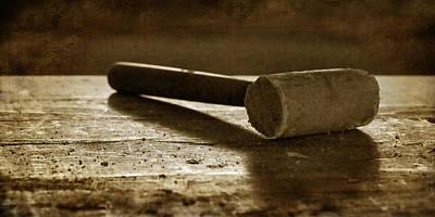 Mallet - Wooden Hammer Poster by Nikolyn McDonald