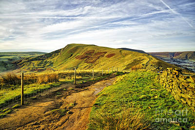 Mam Tor Poster by Nichola Denny