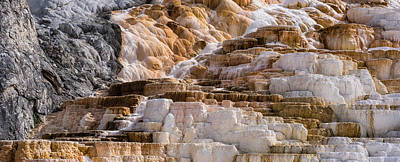 Mammoth Hot Springs Terraces Yellowstone Poster by Steve Gadomski