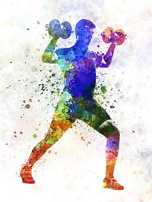 Man Exercising Weight Training Poster by Pablo Romero