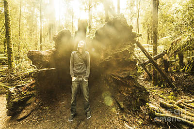 Man Exploring Mt Field National Park Poster by Jorgo Photography - Wall Art Gallery