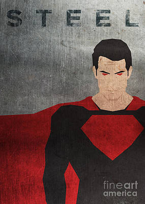 Man Of Steel Minimal Poster Poster by Chris Trudeau
