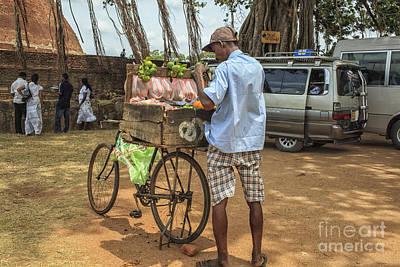Man Selling Citrus Fruit Poster by Patricia Hofmeester