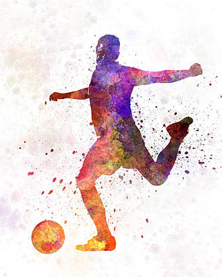 Man Soccer Football Player 03 Poster by Pablo Romero