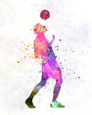Man Soccer Football Player 06 Poster by Pablo Romero