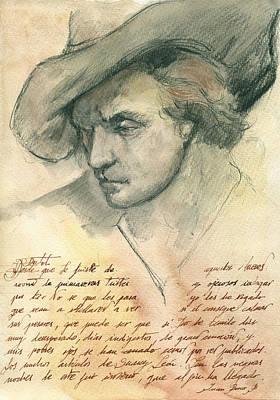 Man Study Poster by Juan Bosco