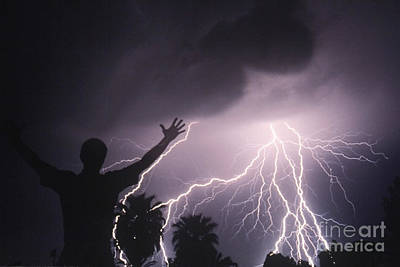 Man With Lightning, Arizona Poster by Kent Wood