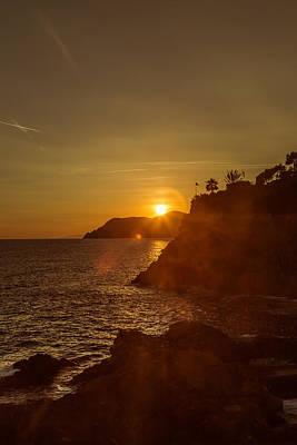 Manarola Sunset Poster by Chris Fletcher
