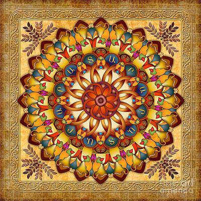 Mandala Ararat V2 Poster by Bedros Awak