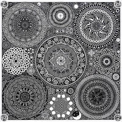 Mandala Bouquet Poster by Matthew Ridgway