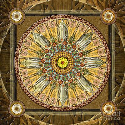 Mandala Illumination V1 Poster by Bedros Awak