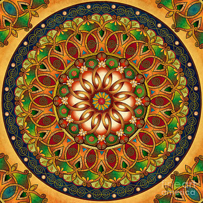 Mandala Rebirth Poster by Bedros Awak