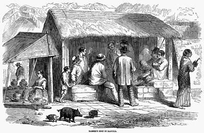 Manila: Barbershop, 1858 Poster by Granger