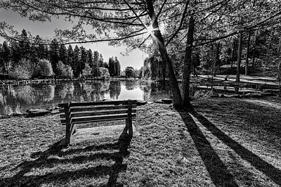 Manito Spring Morning In Black And White Poster by Mark Kiver