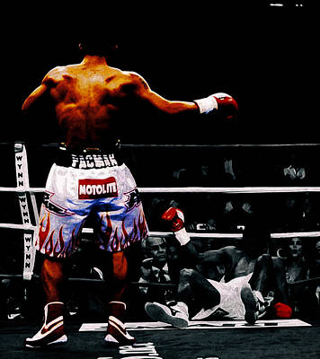 Manny Pacquiao And Erik Morales Poster by Brian Reaves