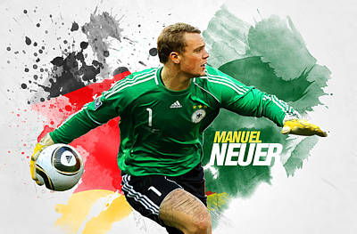 Manuel Neuer Poster by Semih Yurdabak