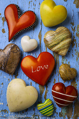 Many Hearts Poster by Garry Gay