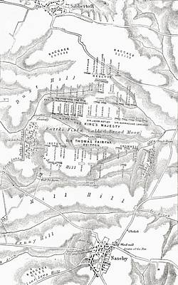 Map Of The Site Of The Battle Of Poster by Vintage Design Pics