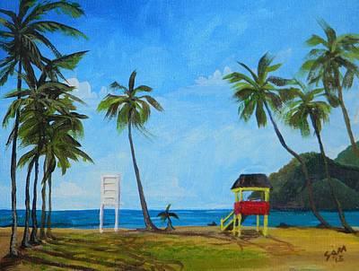 Maracas Bay 6 Poster by Samantha Rochard