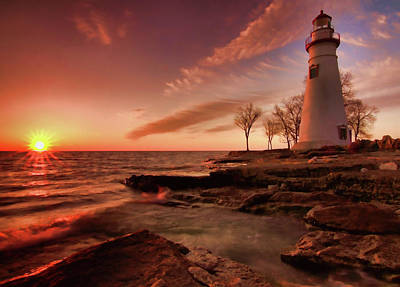 Marblehead Lighthouse Sunrise Poster by Dan Sproul