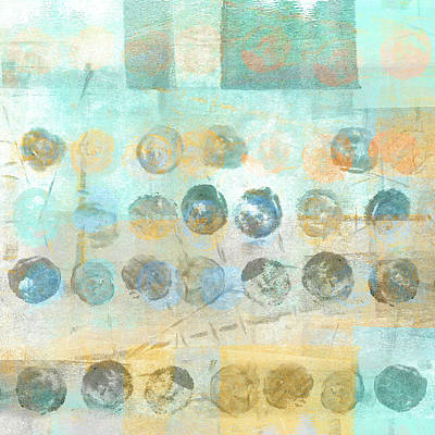 Marbles Found Number 4 Poster by Carol Leigh