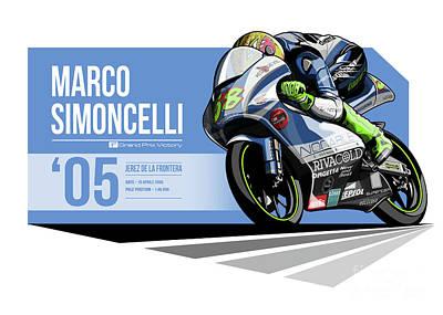 Marco Simoncelli - 2005 Jerez De La Frontera Poster by Evan DeCiren